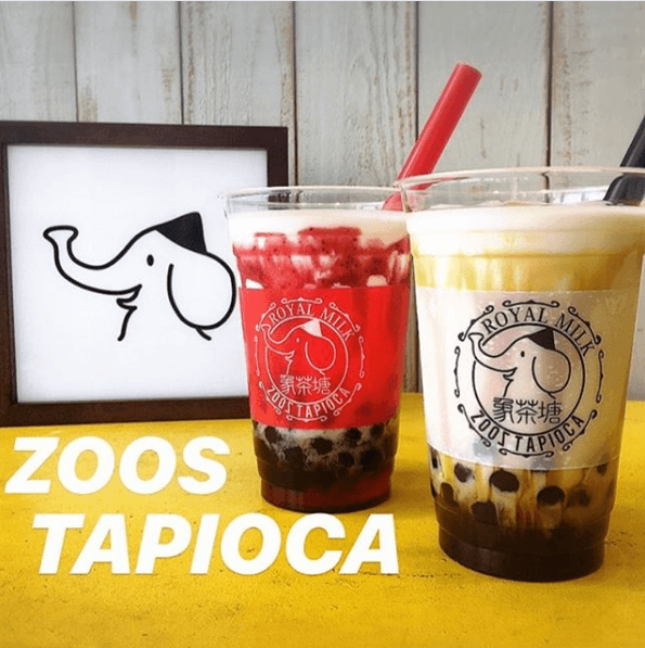 zoos tapioca ズーズタピオカ 黒糖ミルク 苺ロイヤルミルク